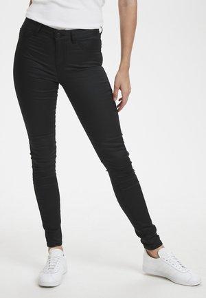 LEIA COATED - Jeans Skinny Fit - black