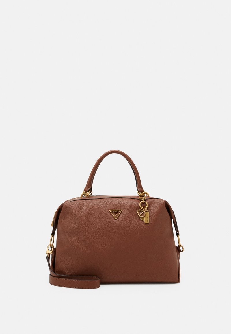 Guess - DESTINY SATCHEL - Handbag - cognac