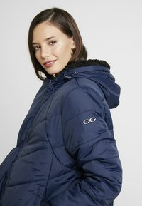 Modern Eternity - HARPER THIGH COCOON PUFFER COAT - Winter coat - navy