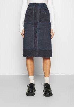 OBLARE - Denim skirt - blu marino