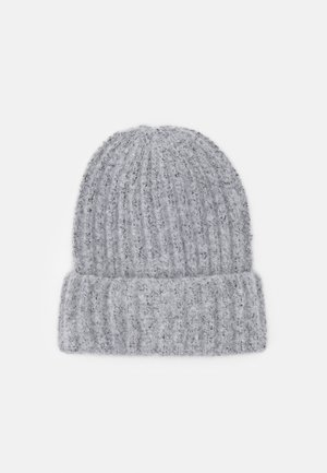PCPYRON STRUCTURED HOOD  - Beanie - light grey