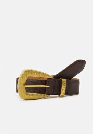 NOT ADJUSTABLE PANT - Pásek - dark brown