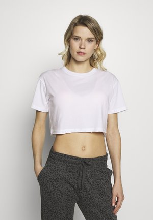 ACTIVE CROPPED TEE - Basic T-shirt - white
