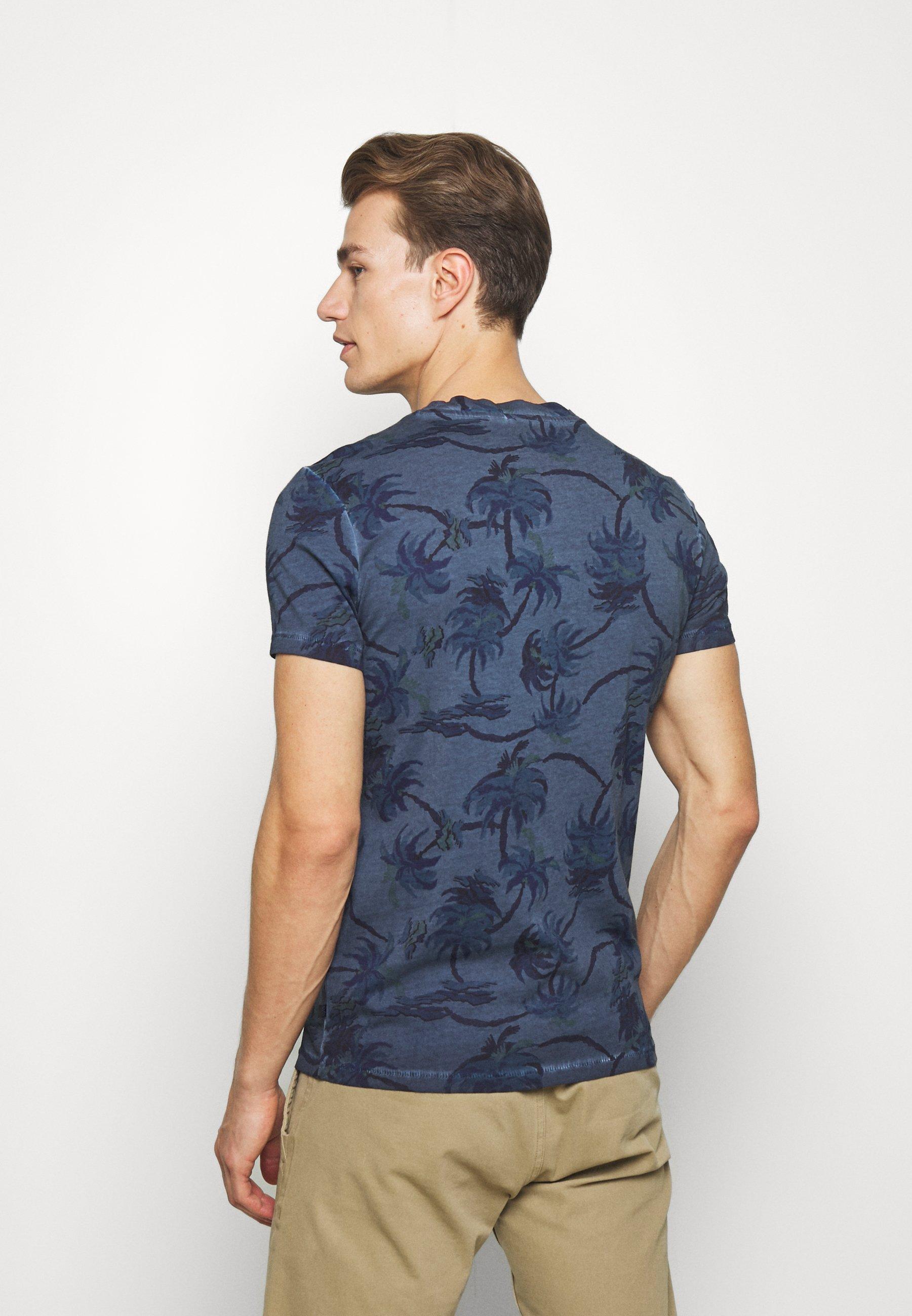 Q/S designed by Print T-shirt - marine vSR0x