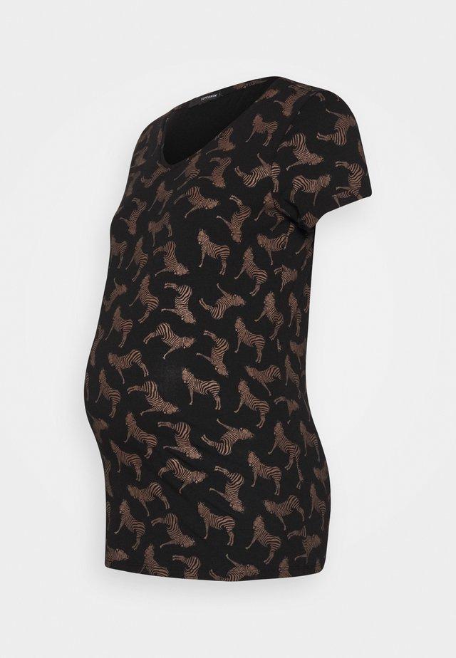 TEE ZEBRA - T-shirt print - black