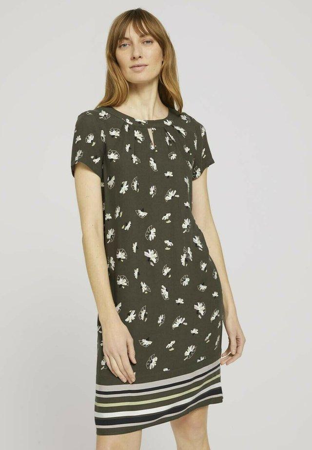 Sukienka letnia - khaki floral design