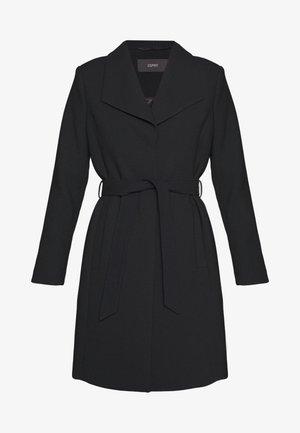 PLAIN COAT - Classic coat - black