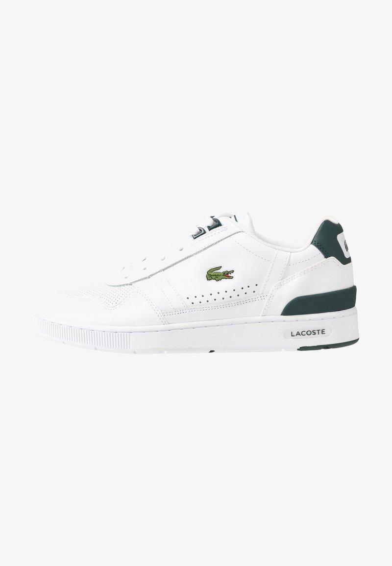 Lacoste - T-CLIP - Sneakersy niskie - white/dark green