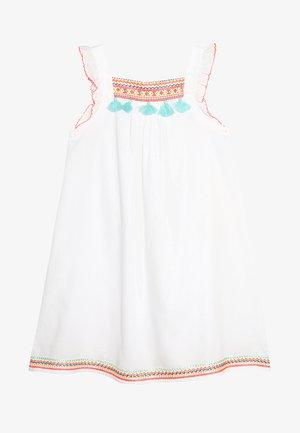 GIRLS FLUTTER DRESS - Day dress - white