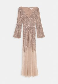 Maya Deluxe - EMBELLISHED V NECK MAXI DRESS - Ballkjole - taupe blush - 5