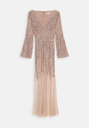 EMBELLISHED V NECK MAXI DRESS - Vestido de fiesta - taupe blush