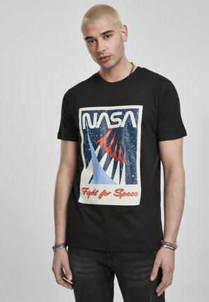 NASA FIGHT FOR SPACE  - Print T-shirt - black