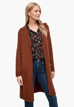 Cardigan - brown melange
