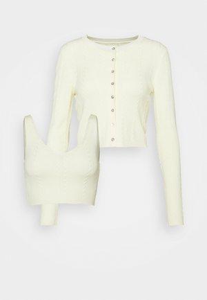 KNITWEAR SET - Cardigan - light yellow