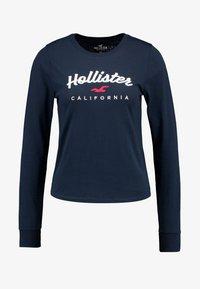 Hollister Co. - CLASSIC TIMELESS TECH  - Topper langermet - navy - 4