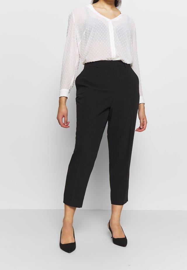 ELASTIC BACK ANKLE GRAZER - Pantalon classique - black