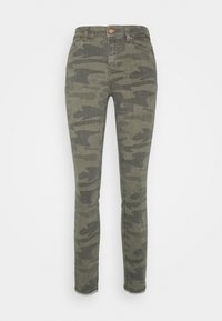 ONLY - ONLBLUSH LIFE MID RAW CAMO - Jeans Skinny Fit - deep lichen green/grape leaf - 4