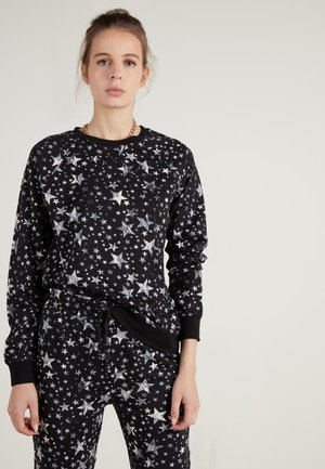 Long sleeved top - schwarz - 039u - black mix print