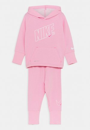 DRI FIT FULL ZIP HOODIE AND JOGGERS SET - Tepláková souprava - pink heather