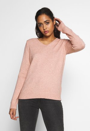 VIRIL V NECK  - Strikkegenser - pale mauve