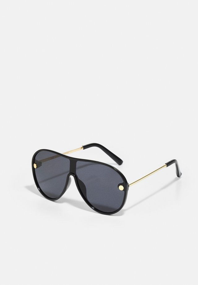 NAXOS WITH CHAIN UNISEX - Zonnebril - black/gold-coloured