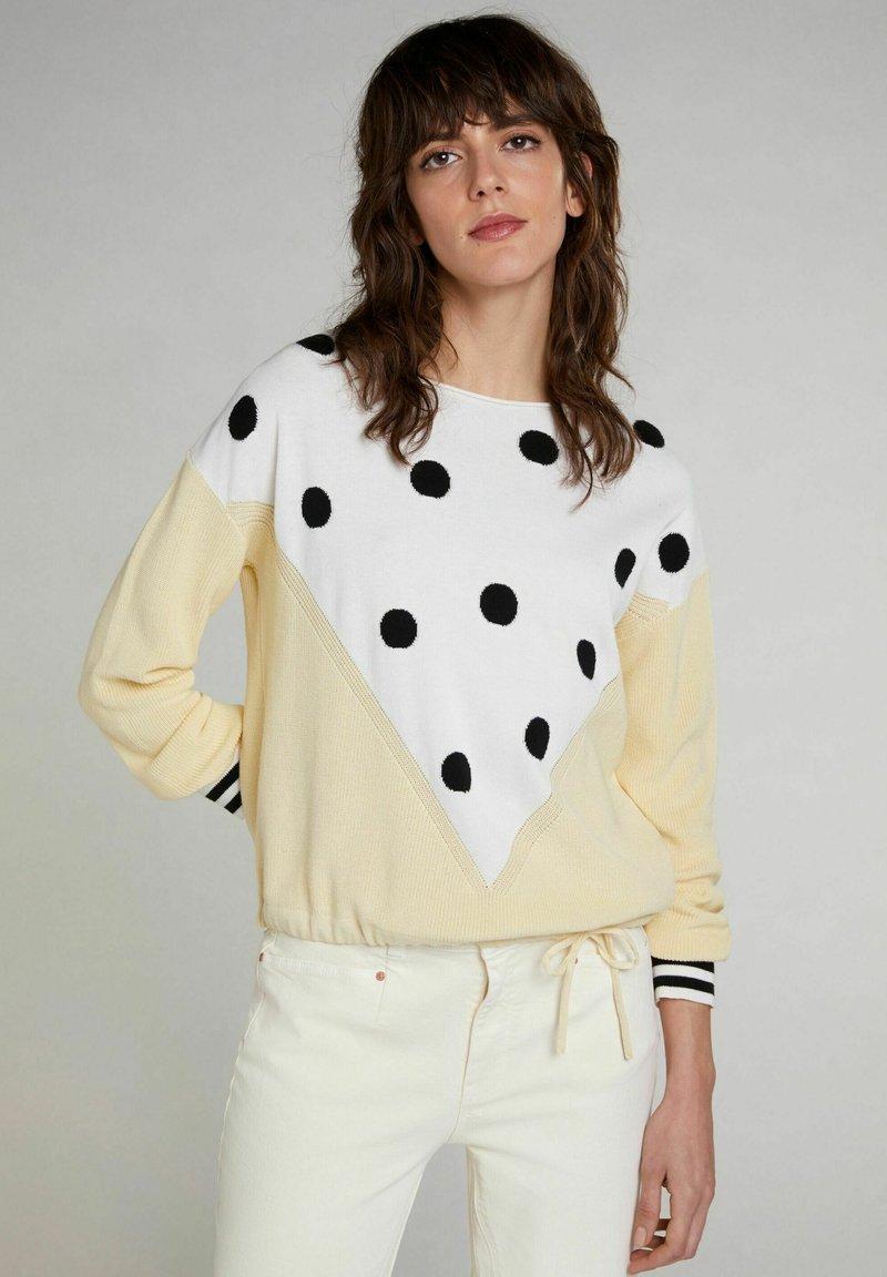 Oui - Jumper - yellow white