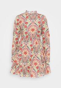 Glamorous - PRAIRIE MINI DRESS WITH RUFFLE  - Day dress - multi-coloured - 0
