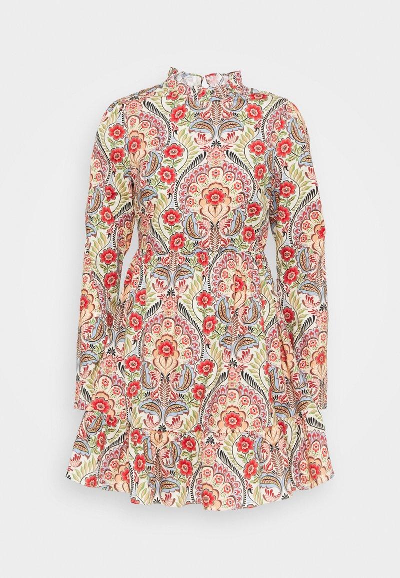 Glamorous - PRAIRIE MINI DRESS WITH RUFFLE  - Day dress - multi-coloured