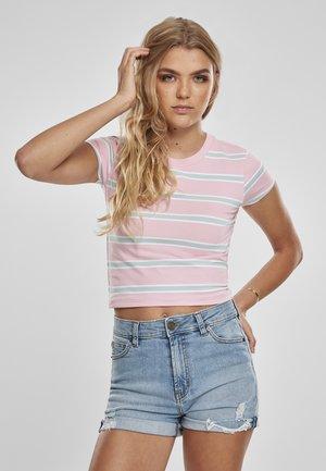 Print T-shirt - girlypink/oceanblue