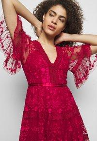 Needle & Thread - LOTTIE MIDI DRESS - Cocktail dress / Party dress - deep red - 3