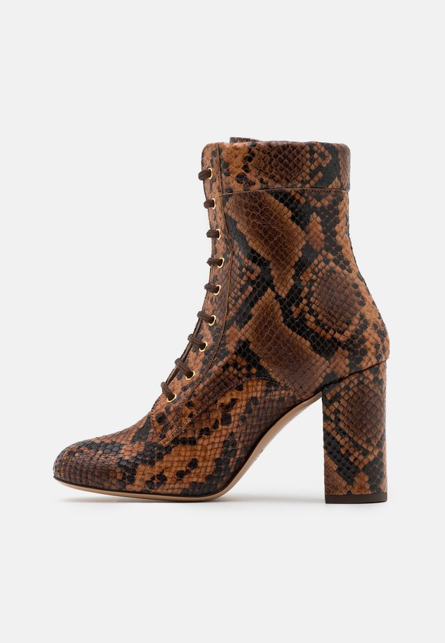 DENISE BOOT - Lace-up ankle boots - marrone