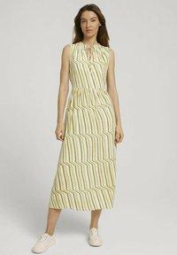 TOM TAILOR - Day dress - green watercolor stripe - 0