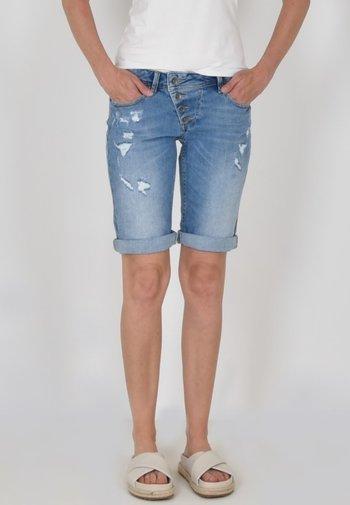 Denim shorts - denim repair