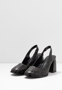 Lost Ink Wide Fit - BLOCK HEEL SLING BACK SHOE - Avokkaat - black - 4