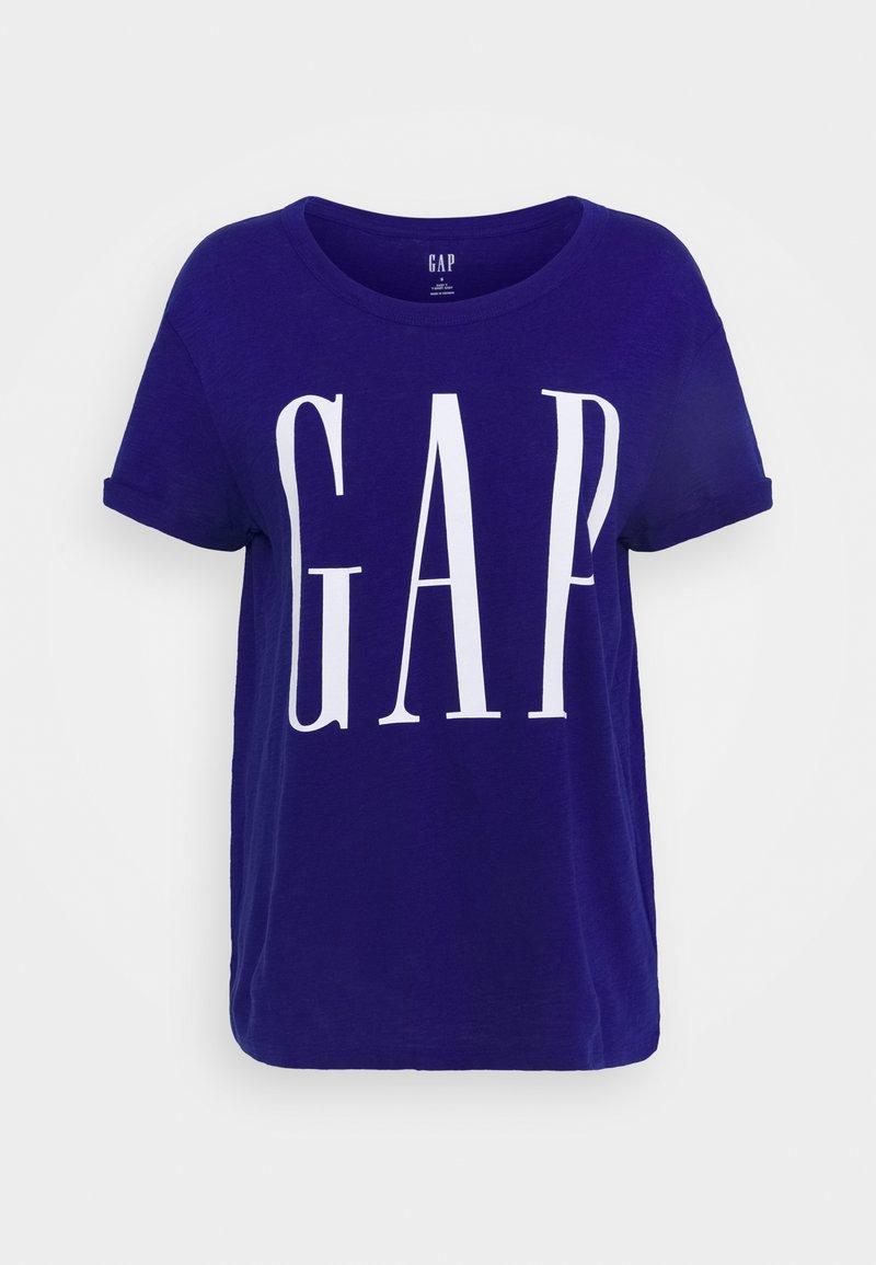GAP - EASY SIDE SLIT LOGO - T-shirt z nadrukiem - capital blue