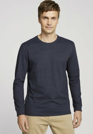 Långärmad tröja - sky captain blue white melange