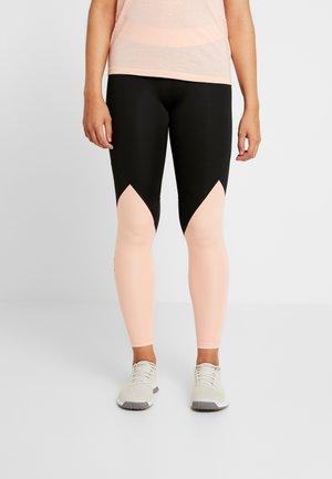 ASK  - Leggings - black/glow pink