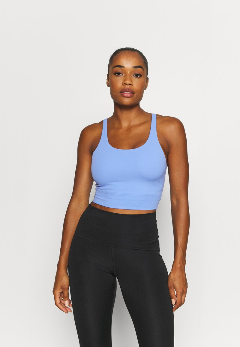 Nike Performance - THE YOGA LUXE CROP TANK - Débardeur - royal pulse/aluminium
