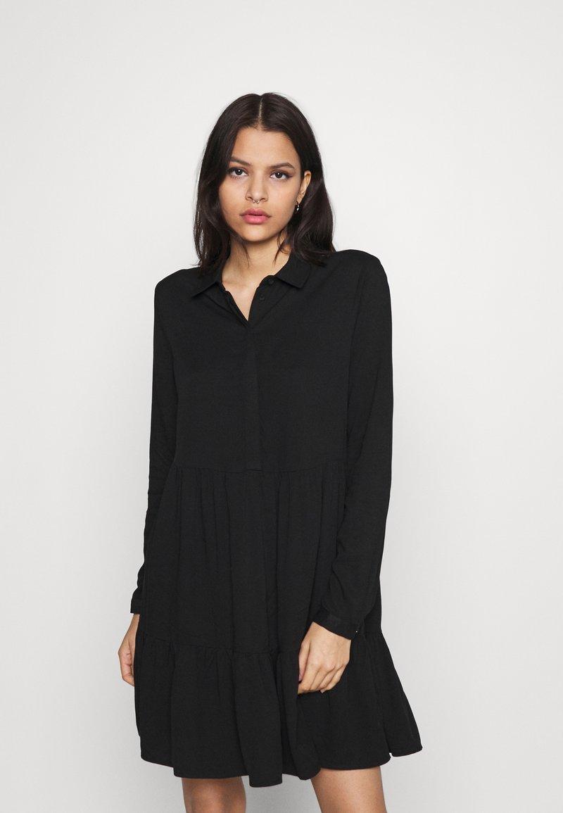 Vila - VIMOROSE SHIRT DRESS - Day dress - black