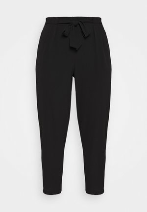 BLACK PEBBLE TIE WAIST POSH JOGGER - Trousers - black