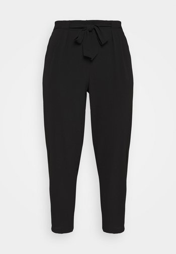 BLACK PEBBLE TIE WAIST POSH JOGGER
