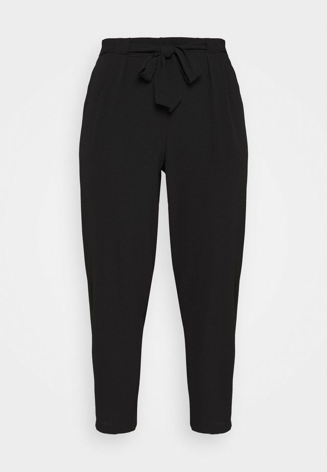 BLACK PEBBLE TIE WAIST POSH JOGGER - Bukse - black