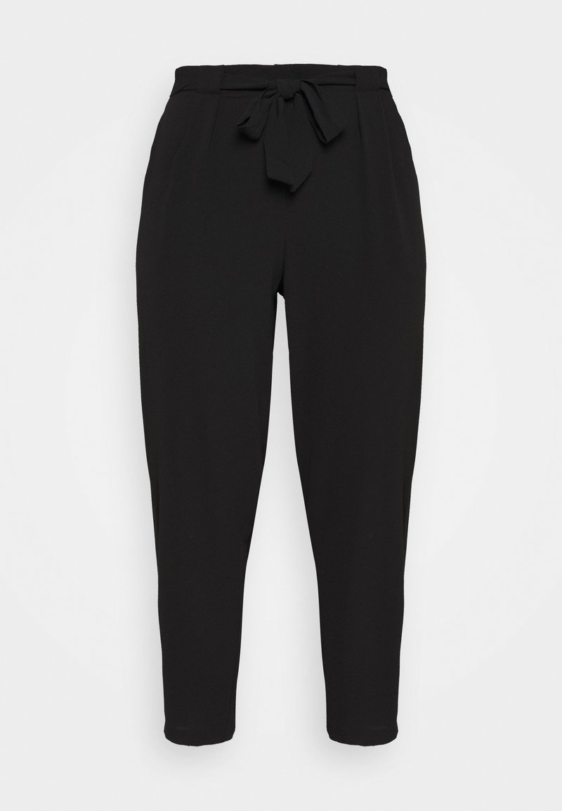 Evans - BLACK PEBBLE TIE WAIST POSH JOGGER - Trousers - black