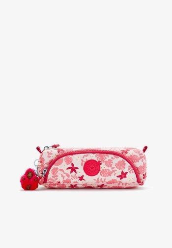 CUTE - Pencil case - pink leaves