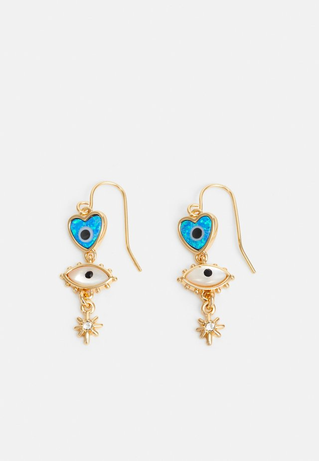 MIXED CHARM DROP - Earrings - gold-coloured