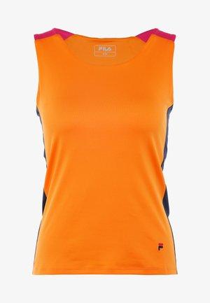 RACERBACK ASHLEY - Koszulka sportowa - orange peel