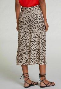 Oui - A-line skirt - light grey camel - 2