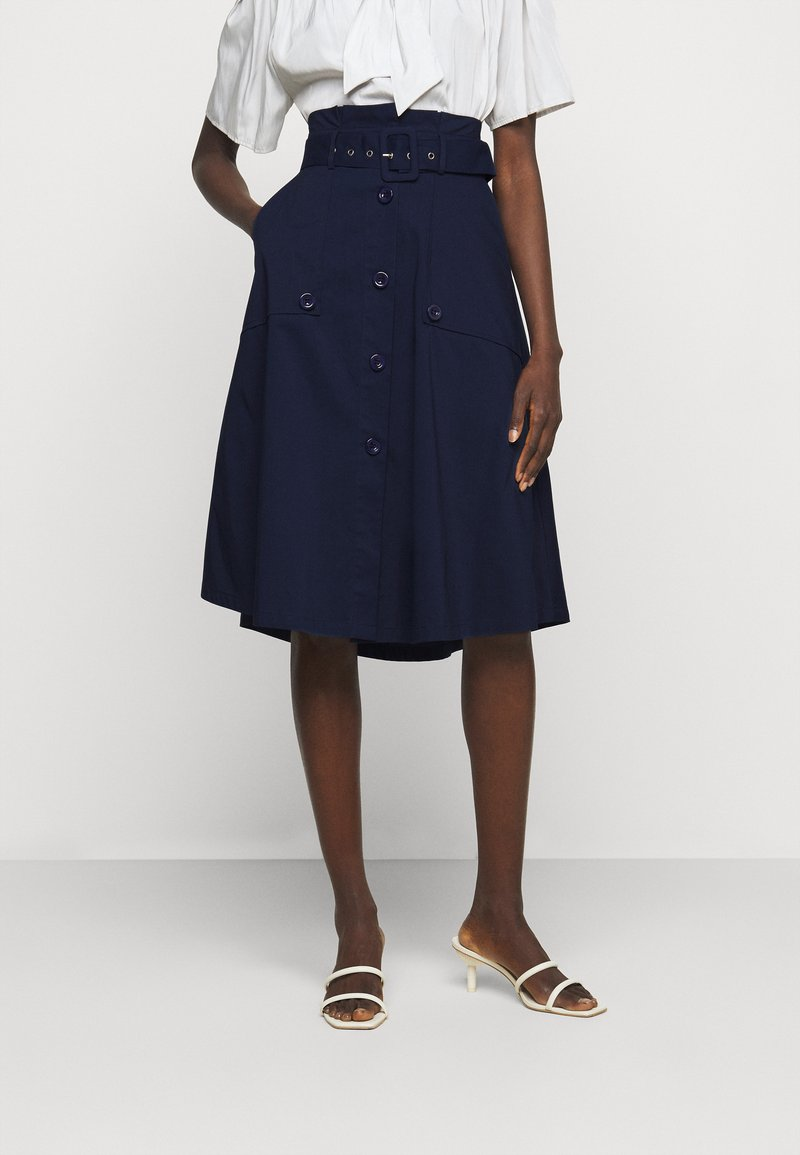 Steffen Schraut - FANCY SKIRT - A-line skirt - navy blue