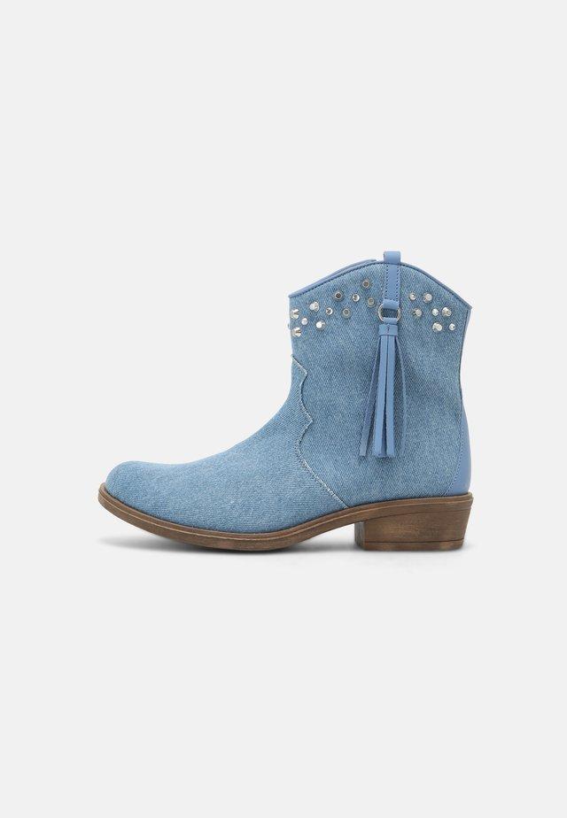 Cowboy-/Bikerstiefelette - blue