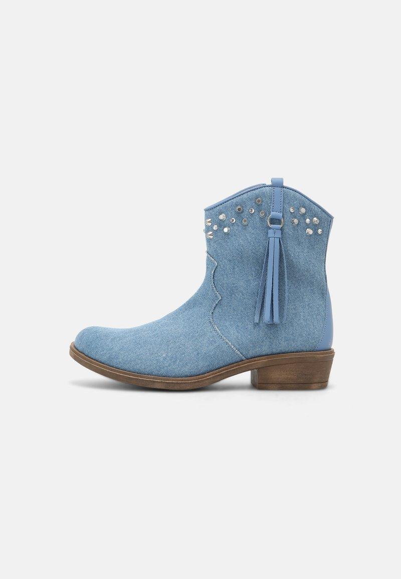 TWINSET - Cowboy/biker ankle boot - blue